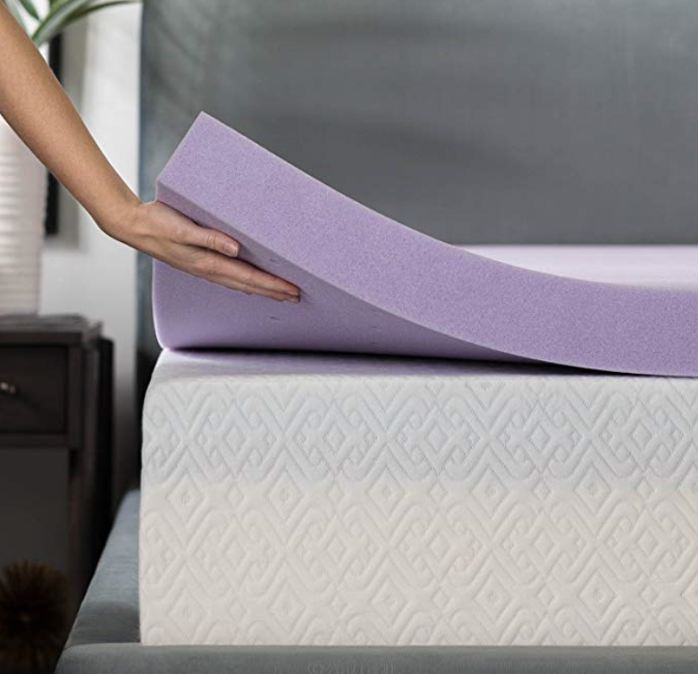 Lavander-infused Memory Foam Topper